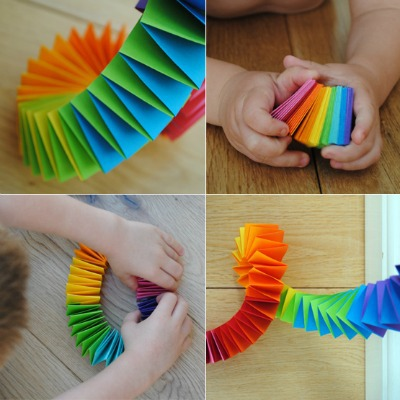 Folded Paper Rainbow Garland