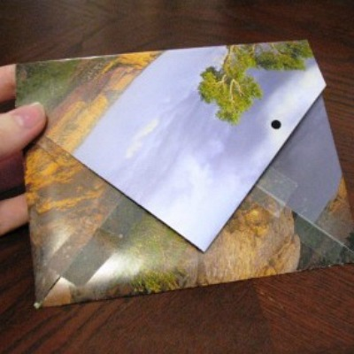 upcycled calendar envelope