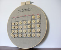embroidered perpetual calendar