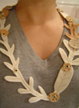 felt branch necklace