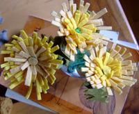 felt dandelion bouquets