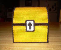 plastic canvas mario treasure chest