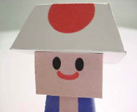 diy paper craft mario toad