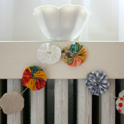upcycled spring garland
