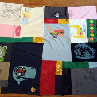 upcycled t-shirt quilt