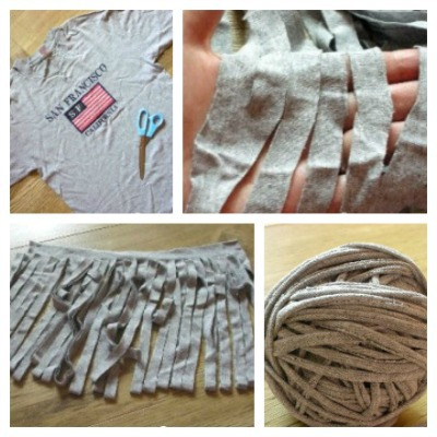 upcpycled t-shirt jersey yarn