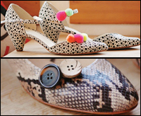 pom pom shoe decorations