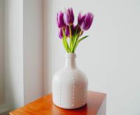 recycled rum vase