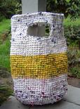 crochet plastic bag tote