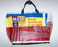 fused plastic bag tote