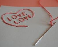 embroidered valentine