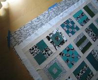 making quilt sandwich