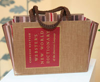 upcycled old book purse