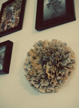 upcycled old book wreath