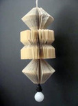 upcycled old book pendent sculpture