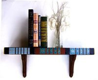 upcycled old book shelf