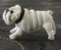 felted knit english bull dog