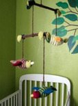 crochet amigurumi bird crib mobile