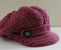 swirl newsboy crochet cap