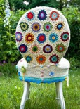 crochet hexagon chair back