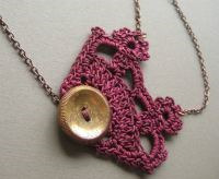 lace crochet necklace