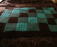 knit patchwork blanket