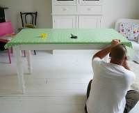 oilcloth diy table cover
