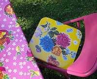 oilcloth diy seat cover