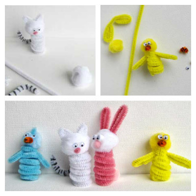 fast finger easter puppets