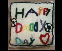 embroidered pillow makes a unique father