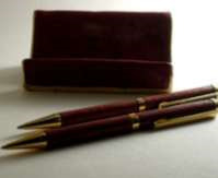faux burled wood pen father
