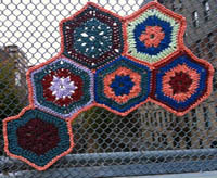 granny square fence