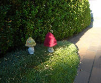 yarn bombing lawn ornaments