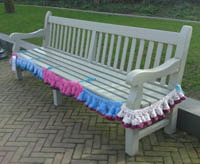 yarn bombing bench