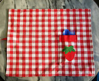 4th of july holiday pocket placemat