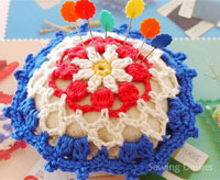 4th of july holiday pincushion