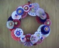 4th of july holiday paper medallion