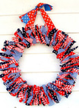 4th of july holiday ribbon wreath