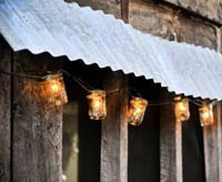 outdoor string lantern decor