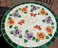 mosiac tile outdoor decor table