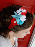 Fourth of July flower headband
