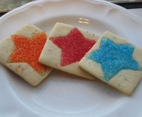 Fourth of July cut-out cookies