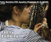 poetry bombing artist