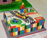 lego kids party theme cake
