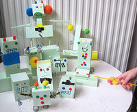kids party robot decor