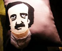 edgar allan poe pillow