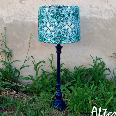 Lamp makeover using paint