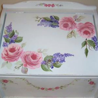 Paint makeover of a breadbox