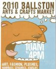 ballston art and craft event flyer