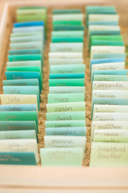 paint sample place card